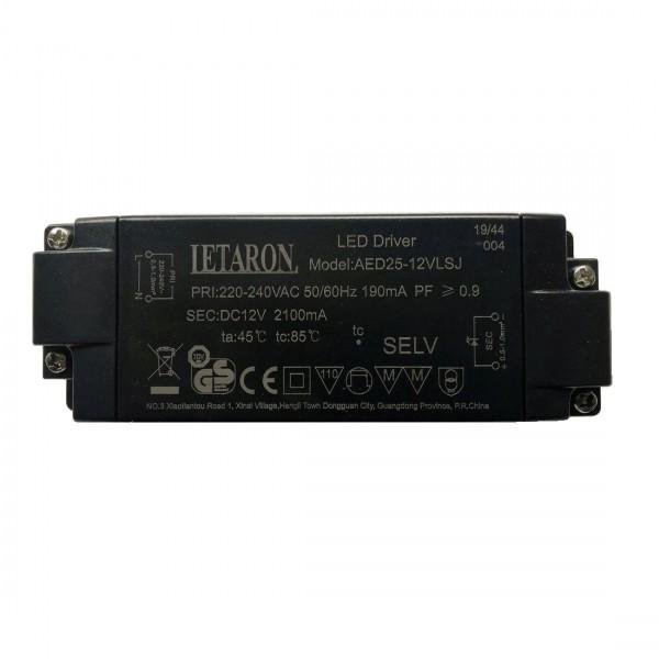 Letaron LED-Treiber AED25-12VLSJ für Badspiegel MITRA (ab 10/2019)
