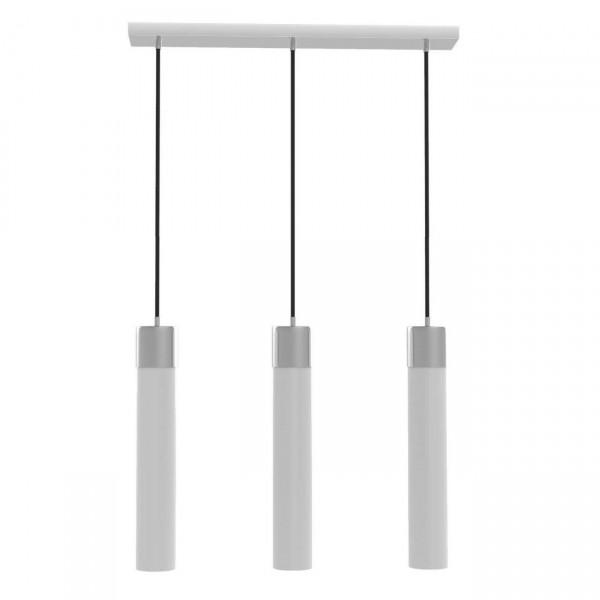 NEG Hängeleuchte TrioTuba (je 9,0cm Tubus) Deckenlampe aus Opalglas und Edelstahl