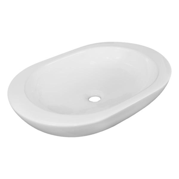 NEG Aufsatz-Waschbecken Uno07A (oval/flach)