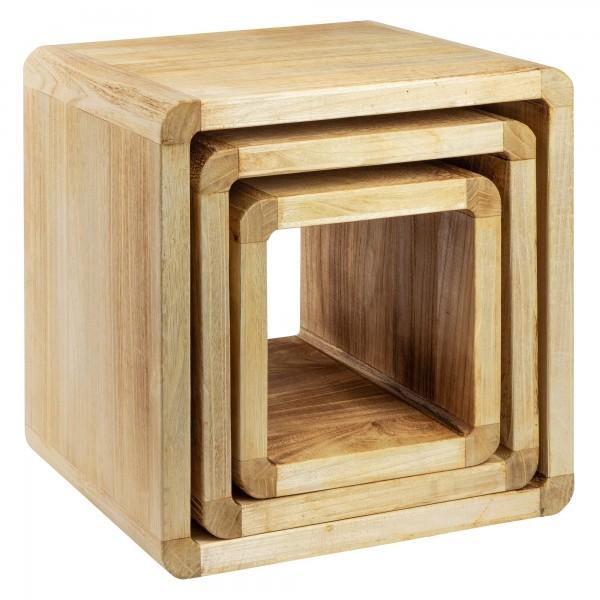 NEG Tisch-Set VINUJA (Echtholz) 3-teilig