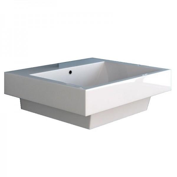 NEG Aufsatz-Waschbecken Uno99H (eckig/teilversenkt)