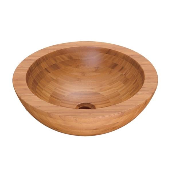 NEG Aufsatz-Waschbecken Madera R35 (Holz/rund)