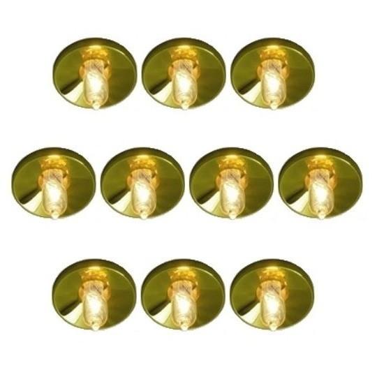 NEG Einbauleuchten-Set Stratos14, 10x10W G4 (gold)