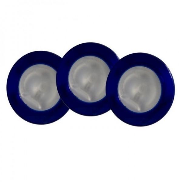 DIAG Möbel-Einbauleuchten-Set, 3x20W G4 (blau)