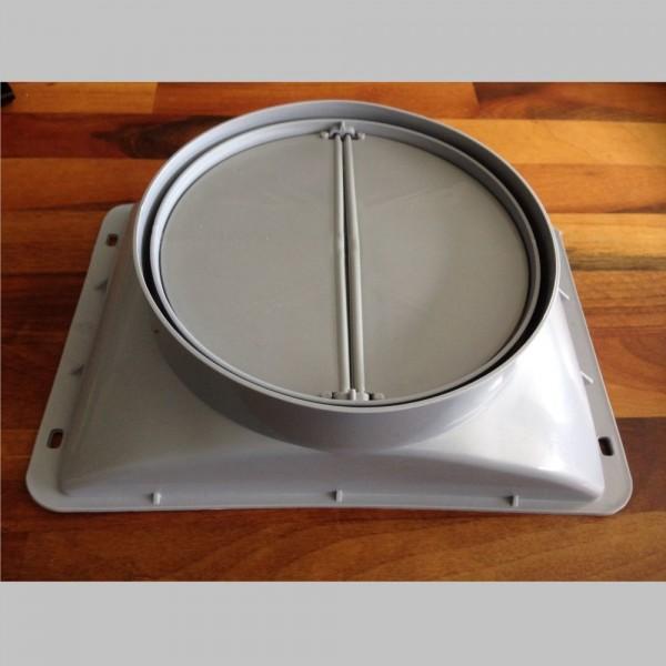 NEG Abluftstutzen mit Klappe (Kunststoff) für KF596/KF599/KF641