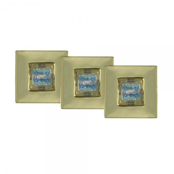 PAULMANN Einbauleuchten-Set, 3x20W GU4 (gold)