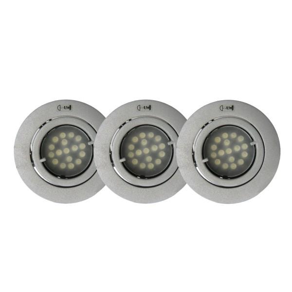 NEG Einbauleuchten-Set Stratos46, 3x2W LED (grau)
