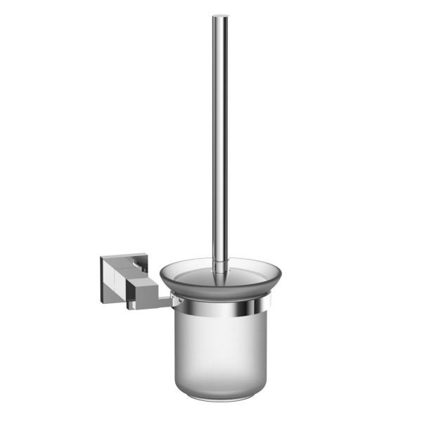 NEG WC-Bürsten-Halter/Glas-Becher Eles (silber/rund)