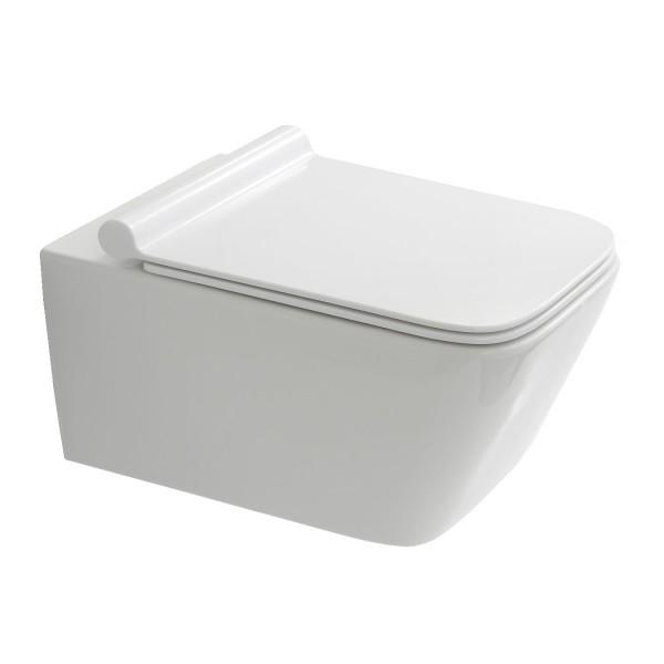 NEG Hänge-WC Uno19 (eckig) mit geschlossenem Spülrand